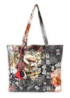 Johnny Was Quilted Tassel Tote