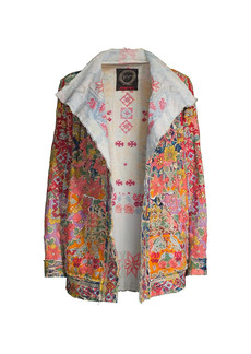 Johnny Was Railey Multicolor Floral-Embroidered Jacket