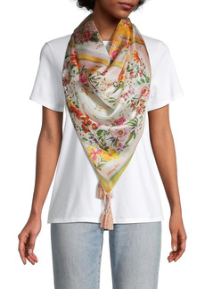 Johnny Was Romantic Tassel Silk Scarf