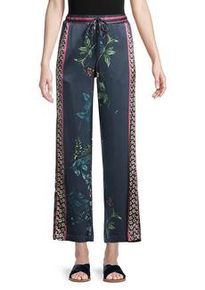 Johnny Was Sanne Floral Stretch-Silk Pants