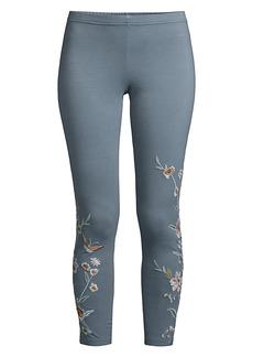 Johnny Was Serafina Embroidered Leggings
