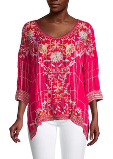 Johnny Was Sienna Embroidered Blouse