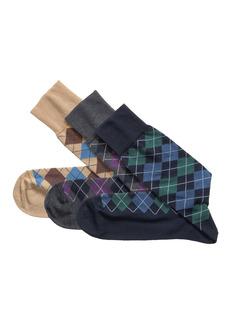 Johnston & Murphy 3-Pack Assorted Argyle Socks