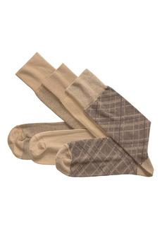 Johnston & Murphy 3-Pack Assorted Socks