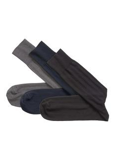 Johnston & Murphy 3-Pack Solid Rib Socks