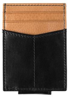 Johnston & Murphy Leather Money Clip Card Case