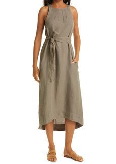 Joie Julieta Pleated Linen A-Line Dress