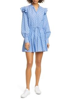 Joie Monesa Ruffle Long Sleeve Cotton Dress