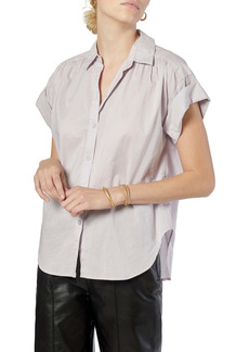 Joie Naro Cotton Roll Cuff Blouse