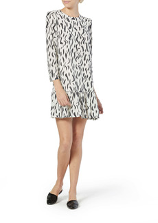 Joie Noto Brushstroke Print Silk Shift Dress