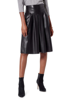 Joie Ordell Faux Leather Pleated Skirt