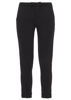Joie Woman Cropped Ponte Slim-leg Pants Black