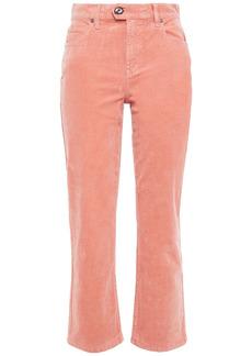Joie Woman Maza Stretch-cotton Corduroy Kick-flare Pants Coral