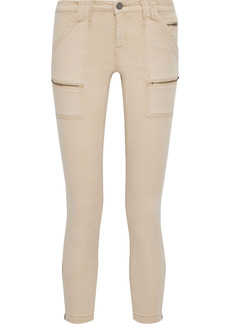 Joie Woman Park Cropped Cotton-blend Twill Skinny Pants Beige