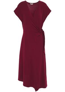 Joie Woman Wrap-effect Stretch-jersey Midi Dress Merlot