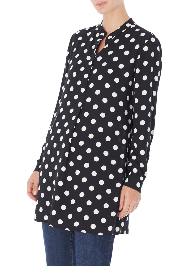 Jones New York Polka Dot Swing Tunic