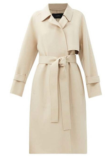 Joseph Cottrell felted wool-blend trench coat