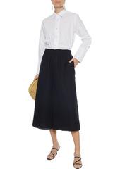 Joseph Woman Barlon Broderie Anglaise Cotton-blend Culottes Black