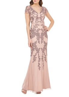 JS Collections Beaded Mermaid Gown