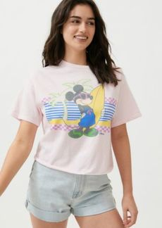 Junk Food X Disney Surfer Mickey Mouse Cropped Tee