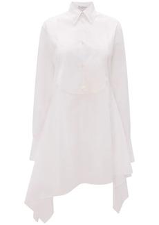 JW Anderson Asymmetric Cotton Poplin Shirt Dress