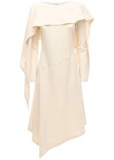 JW Anderson Asymmetric Draped Cotton Jersey Dress