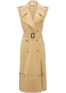 JW Anderson fold up hem sleeveless trench coat