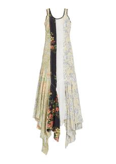 JW Anderson - Women's Multi-Print Crepe Asymmetric Maxi Dress - Multi - Moda Operandi