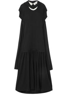 Jw Anderson Woman Open-back Wool-jersey Maxi Dress Black