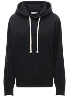 JW Anderson Logo Cotton Jersey Fleece Hoodie