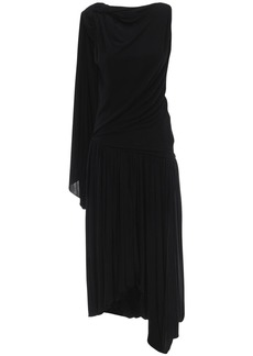 JW Anderson One-sleeve Draped Jersey Dress
