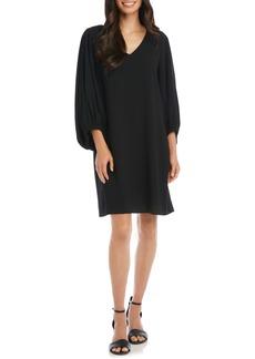 Karen Kane Bishop Sleeve Crepe Shift Dress
