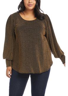 Karen Kane Blouson Sleeve Top (Plus Size)