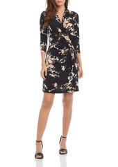 Karen Kane Floral Print Faux Wrap Dress