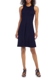 Karen Kane High Neck A-Line Dress