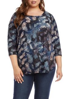 Karen Kane Shirttail Top (Plus Size)