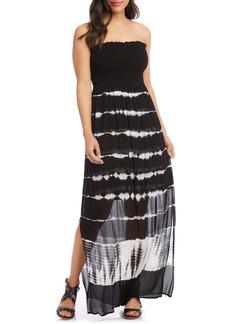Karen Kane Smocked Tie Dye Georgette Maxi Dress