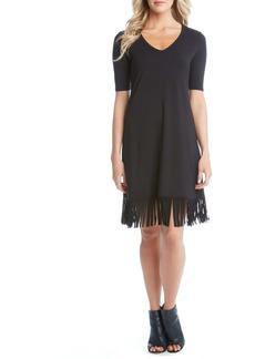 Karen Kane V-Neck Fringe Dress