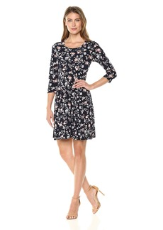 Karen Kane Women's 3/4 Sleeve Swing Dress  L