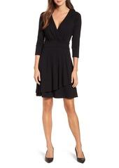Karen Kane Wrap Style Drape Front Dress
