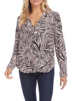 Karen Kane Zebra Popover Shirt