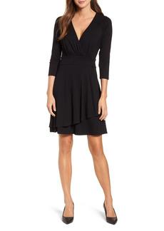 Women's Karen Kane Wrap Style Drape Front Dress