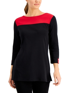 Karen Scott Colorblocked Tunic, Created for Macy's