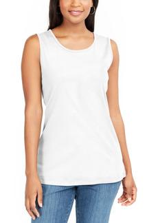 Karen Scott Petite Cotton Tunic Tank Top, Created for Macy's