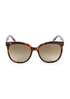 Karl Lagerfeld 56MM Squared Cat Eye Sunglasses