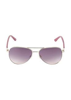 Karl Lagerfeld 57MM Borde Aviator Sunglasses