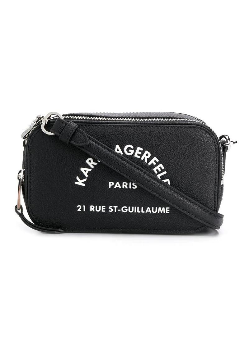 Karl Lagerfeld Address logo crossbody bag