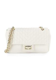 Karl Lagerfeld Agyness Leather Shoulder Bag