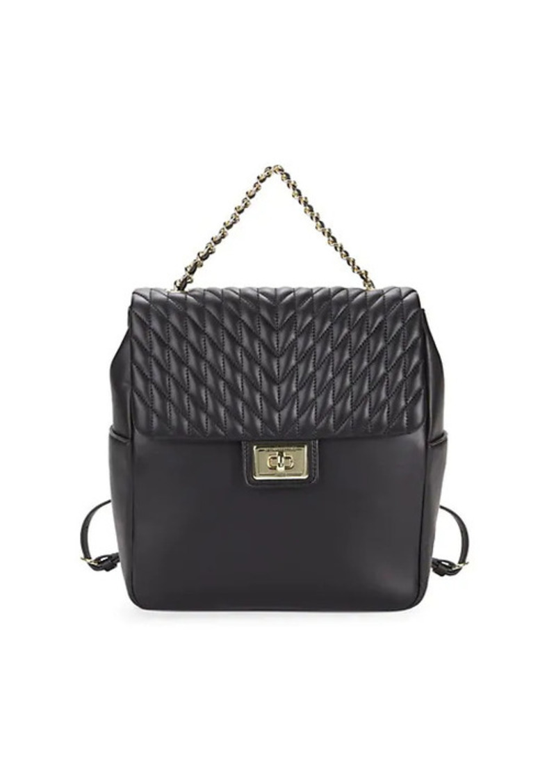 Karl Lagerfeld Agyness Quilted Leather Backpack