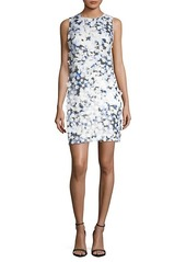 Karl Lagerfeld Applique Printed Lace Dress